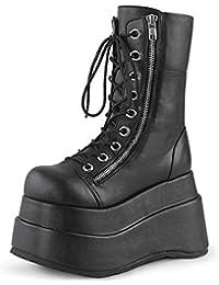 Demonia Damen Gothic Ankle Boots mit Wadenriemchen Emily 357