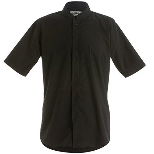 Kustom Kit - Chemise ajustée à manches courtes et col mandarin - Homme Blanc