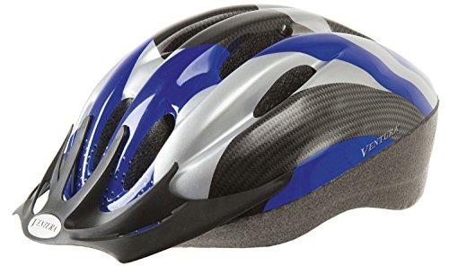 Ventura Fahrradhelm, schwarz/blau/carbon, M, 730920.0