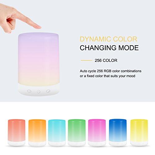 Touch Sensor Light, USB-aufladbar, luohaoshi dimmbar Nachttischlampe, Nachtlicht für Kinder und Erwachsene, 3Modi, Atmosphäre Lampe, Stimmungslicht, bequem für Wohnzimmer und Schlafzimmer