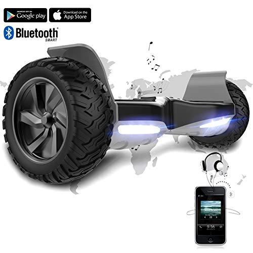 Hoverboard SUV de 8,5 Pulgadas, Todo Terreno 700 W, Función APP, Bluetooth y LED, Equilibrio Automático de Patinete Eléctrico para Niños y Adultos
