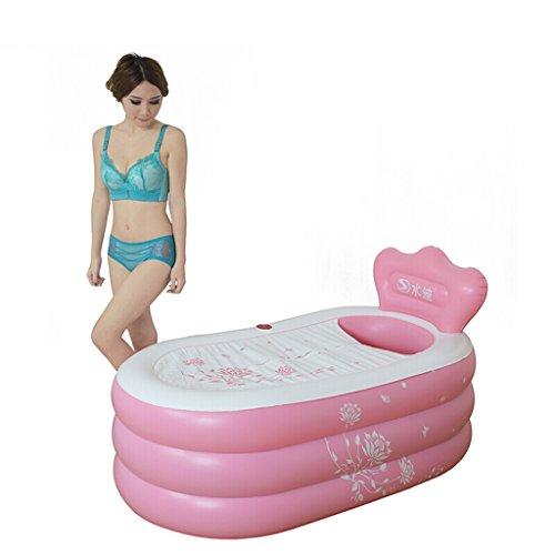 JCOCO Warm Adult Folding Badewanne Erwachsene Große Badewanne Aufblasbare Badewanne Kinder Badewanne Verdicken (Farbe : Pink) -