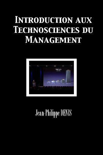 Livre gratuits en ligne Introduction aux Technosciences du Management pdf