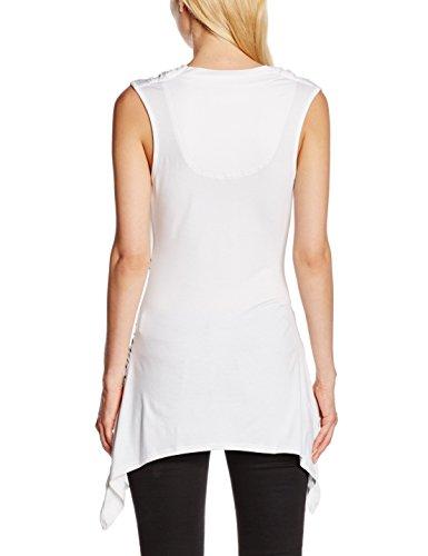 Desigual Montseny - Débardeur - Imprimé - Sans manche - Femme Blanc (Blanco)