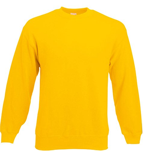 Fruit of the Loom - Set-In Sweatshirt - sunflower - Größe: M