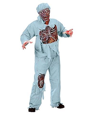 Zombie Doktor 3D Deluxe Halloween Kostüm - M/L (10. Doktor-kostüm-hemd)