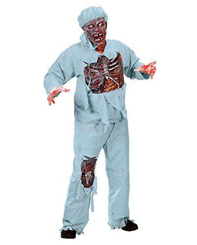 Zombie Doktor 3D Deluxe Halloween Kostüm - (Halloween Kostüm Knochen Blutige)