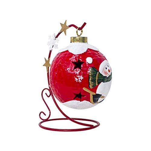 97b18e616b2 BESTOYARD Cerámica Bolas de Navidad Bolas de Navidad Luces led Fiesta de  Bodas decoración (muñeco