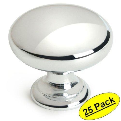 Cosmas 4950CH Polished Chrome Cabinet Hardware Round Mushroom Knob - 1-1/4 Diameter - by Cosmas -