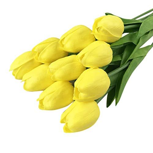 TianWlio Tulip Künstliche Blume Latex Echte Braut Hochzeit Bouquet Home Decor 20 Stücke