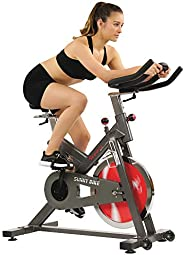 Sunny Health & Fitness Unisex Adult SF-B1712 Belt Drive Indoor Cycling Bike - Black, One