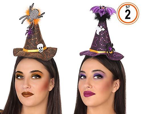 ATOSA Hut Hexe Mini mit Haarreif - Halloween, Sombreros, Gorros, Cascos y Diademas (Halloween Disfraces Hexe)