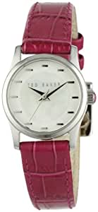 Ted Baker Ladies Pink Leather Strap Watch - TE2063
