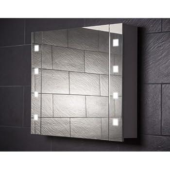 Amazon.de: HAPA Design Spiegelschrank Rimini weiß mit LED ... | {Design spiegelschrank 81}
