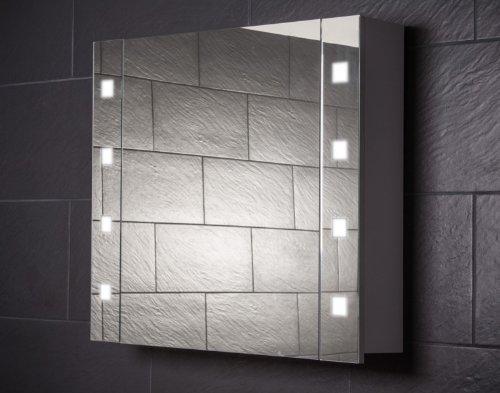 #Galdem CUBE80 Spiegelschrank, holz, 80 x 70 x 15 cm, weiß#