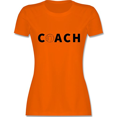 Volleyball - Volleyball Coach Trainer - tailliertes Premium T-Shirt mit Rundhalsausschnitt für Damen Orange