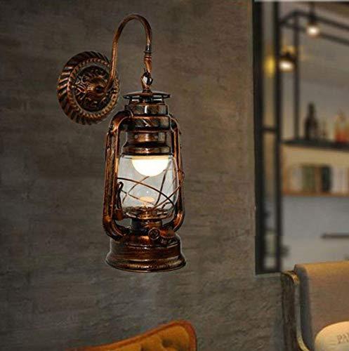 Glas-antike Stehlampe (xiadsk Retro Scheune Laterne Wandleuchte Hotel Korridor Gang Lichter Technik Wandleuchten Retro Europäischen Stil mit Antiken Glas)