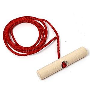 Holzfee Schlitten-Leine Rot 140 cm mit Buchenholz-Griff