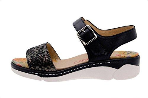 Con Plantare Confortevole Comfort Removibile Piesanto Da Negro 1501 Pelle Sandalo Ampio Sandalo Donna In wqHOW4Wz8