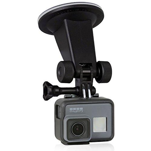 Wicked Chili Auto Saugnapf Halterung für GoPro Hero 7 / 2018 / 6 / 5 / 4 / 3, Activeon, A-Rival, DBPOWER, Garmin, QUMOX, Rollei, TomTom Action Cam (für ebene Flächen, neigbar, vibrationsfrei)