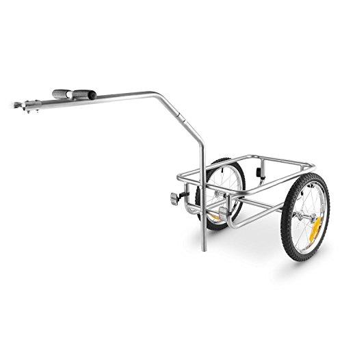 DURAMAXX Bigbig Box Fahrradanhänger Handwagen (Hochdeichsel-Kupplung, Transportbox mit 40 Liter Volumen, bis max. 40 kg belastbar, Handgriffe, Autoventil) grau - 5