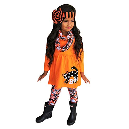 Kostüm Baby Mädchen Fußball - Kleinkind Kinder Baby Mädchen Kürbis T Shirt Katze Hosen Halloween Kostüm Outfits Set