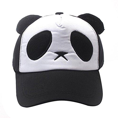 5823d344798c8 QinMM niños niñas bebé Sombrero de Gorra de béisbol de la Panda de algodón  (Negro