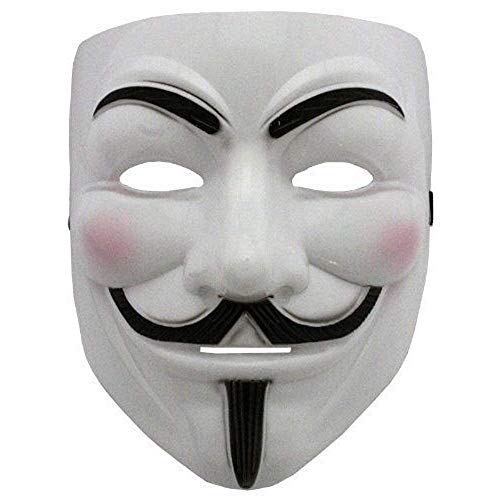 JIAJIA YL New V wie Vendetta Maske mit Eyeliner Nostril Anonymous Guy Fawkes Fancy Adult Kostüm Zubehör Halloween-Maske Ltd