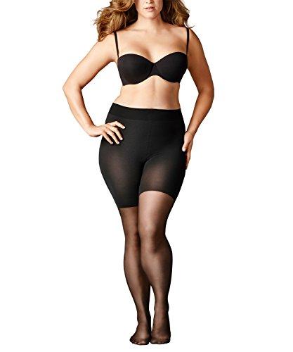 FALKE Damen Beauty Plus 20 Strumpfhosen, 1 Paar, Gr. B Long, schwarz, matt blickdicht, Plus Size