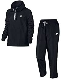 Nike W Nsw Trk Suit Wvn Oh Chándal, Mujer, Negro (Black/White/White), XS