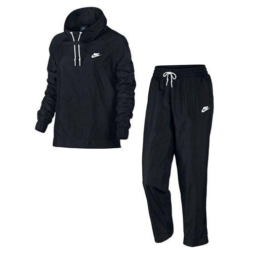 Nike Damen Woven OH Trainingsanzug, Black/White, L