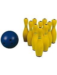 Kids extérieur jeux de Bowling en caoutchouc Set de Bowling léger 10 quilles