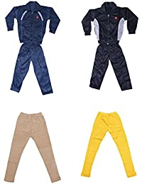 IndiWeaves Girls Combo Pack For Winter (Pack of 2 Tracksuit and 2 Wollen Leggings)