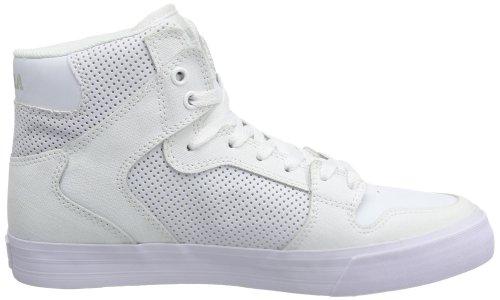 Supra VAIDER, Unisex-Erwachsene Hohe Sneakers Weiß (WHITE - WHITE     WHT)