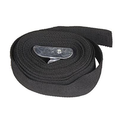 Vktech 3M Black Nylon Cargo Tie down Luggage Lash Belt Strap with Metal Cam Buckle - low-cost UK light store.
