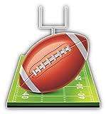 Tiukiu Amercian Football Field Sport Vinyl Decal Sticker for Laptop Fridge Guitar Car Motorcycle Helmet Toolbox Luggage Cases 10 Inch In Width