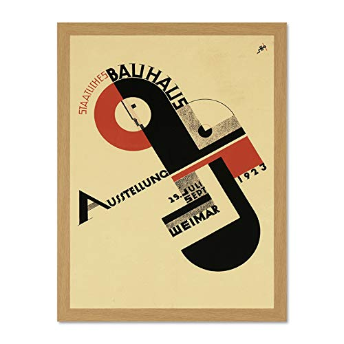 Exhibition Bauhaus Weimar Icon Germany Vintage Retro Advertising Large Framed Art Print Poster Wall...