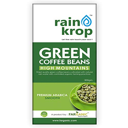 FARGANIC Rainkrop Organic Arabica Green Coffee Beans (300 g)