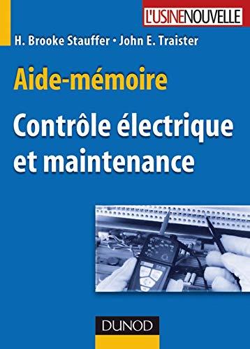 Aide-mémoire de Contrôle électrique et Maintenance PDF Books