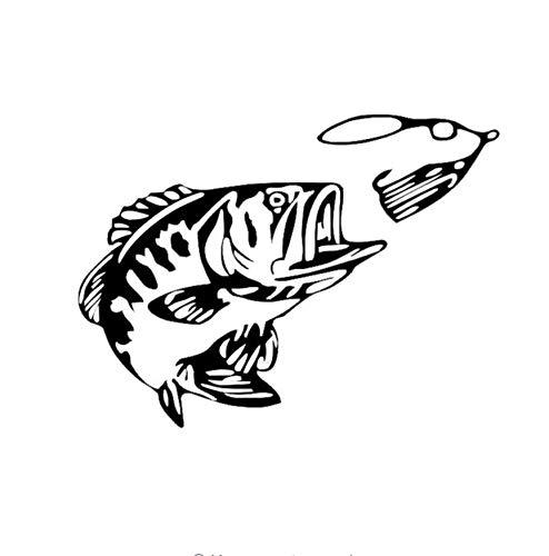 Zybnb 15.2X11.4 Cm Bass Angeln Fisch Auto Heckscheibe Glas Dekoration Aufkleber Auto Änderung Zubehör 3Ps - Heckscheibe Fisch-aufkleber
