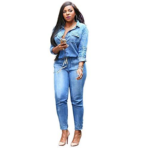 Moshow jeans jumpsuit damen Latzhose Hose Träger Röhren Jeans Overall Jeanshose Trägerhose