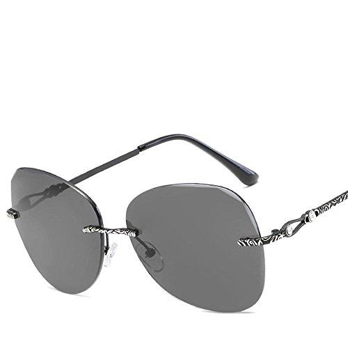 Aoligei Farbe Ocean Objektive ohne Rahmen Sonnenbrillen Metall Dame Sonnenbrillen Europäische Mode