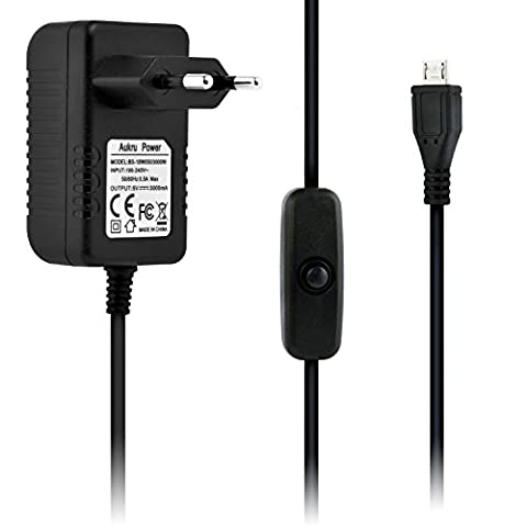 Cable Raspberry - Aukru Raspberry Pi 3 Alimentation 5V 3000mA