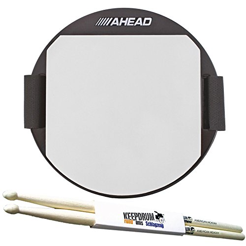 """Ahead AKPP Practice Pad 5"""" Knee Pad + KEEPDRUM Drumsticks 1 Paar"""