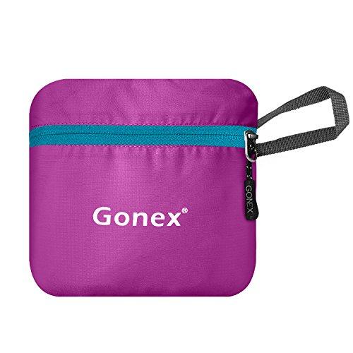 Gonex Unisex 20 Liter Faltbarer Rucksack Leichter Tagesrucksack, für Outdoor Wandern Reisen Rose