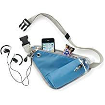 Density Collection Sports Belt Waist Bag Pack with Thermo Water Bottle Holder, Multi Function Wallet Phone Pouch for Running Jogging/Walking/Hiking/Cycling and More for Man and Women Multi Color