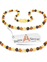 Baltic Amber Necklace - 100% Authentic Baltic Amber Raw Beads - Premium Natural Beads