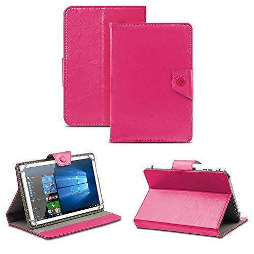 NAUC Universal Tasche Schutz Hülle Tablet Schutzhülle Tab Case Cover Bag Etui 10 Zoll, Farben:Pink mit Magnetverschluss, Tablet Modell für:Blaupunkt Enterprise 1020CH