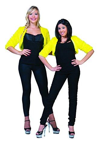 Sexy Miss Kostüm Piggy - Einfarbiger Plüsch-Bolero gelb