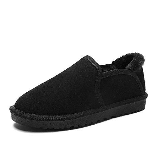 British inverno caldo Snow Boots plus trend di velluto di cotone di slittamento scarpe Black B